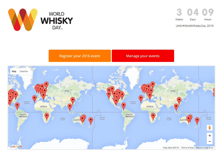 World Whisky Day Map of Events